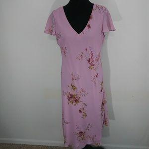 Size 14 pink floral dress